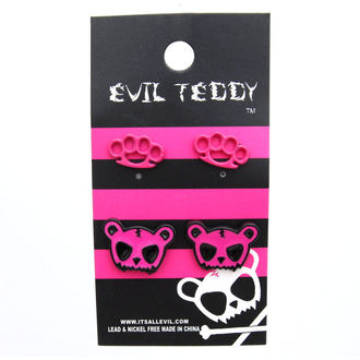 orecchini POIZEN INUDSTRIES - ETES1 Teddy Knuckleduster Set, EVIL TEDDY