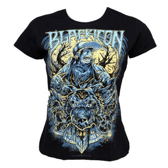 t-shirt hardcore donna - Wolf Sell - BLACK ICON, BLACK ICON