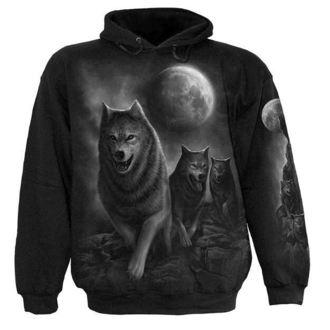 felpa con capuccio uomo - Wolf Pack Wrap - SPIRAL, SPIRAL
