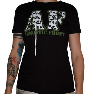 t-shirt metal donna Agnostic Front - Skulls - RAGEWEAR, RAGEWEAR, Agnostic Front