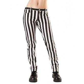 pantaloni donna Nero Pistol - Vicino Pantaloni Stripe Nero/bianco, BLACK PISTOL