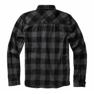 Camicia da uomo BRANDIT Motörhead Camicia a quadri 61005-black/grey Gingham, BRANDIT, Motörhead