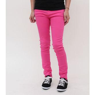 pantaloni donna HELL BUNNY - Super Skinny - Pink, HELL BUNNY