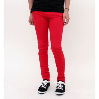 pantaloni donna HELL BUNNY - Super Skinny - Red, HELL BUNNY