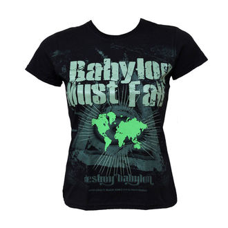 t-shirt hardcore donna - Babylon Must Fall - BLACK ICON, BLACK ICON