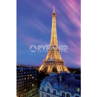 poster Eiffel Torre Attt Crepuscolo - Pyramid Posters, PYRAMID POSTERS