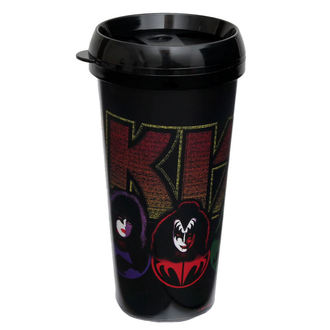 tazza termo KISS - Logo & Faces - ROCK OFF, ROCK OFF, Kiss
