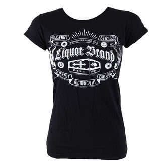 t-shirt hardcore donna - Coffin - LIQUOR BRAND, LIQUOR BRAND