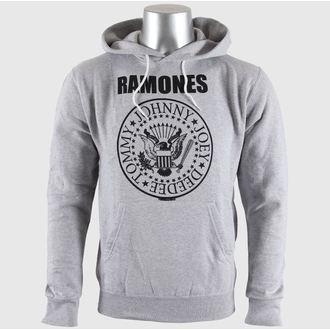 felpa con capuccio uomo Ramones - Seal Logo Gry - BRAVADO EU, BRAVADO EU, Ramones