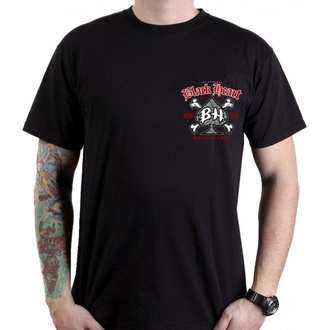 t-shirt street uomo - SKULL BONES - BLACK HEART, BLACK HEART