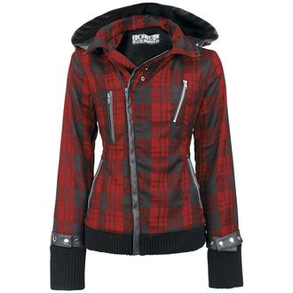 giacca primaverile / autunnale donna - Z Red Check - POIZEN INDUSTRIES