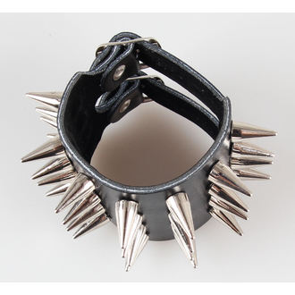 bracciale Borchie 4, BLACK & METAL