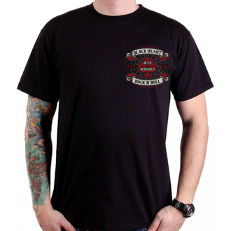 t-shirt street uomo - BEER AND WHISKEY - BLACK HEART, BLACK HEART