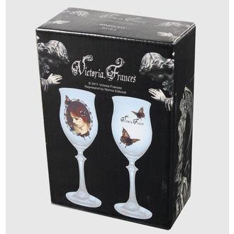 set da 2 bicchieri Victoria Frances  -  Farfalla U . Farfalla , VICTORIA FRANCES, Victoria Francés