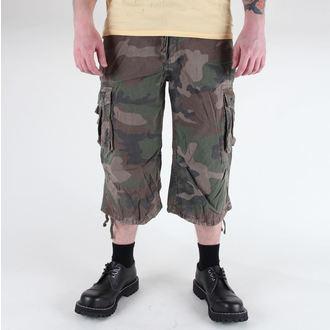 pantaloncini uomo 3/4 MIL-TEC - Aria Combat - Prewash Woodland, MIL-TEC