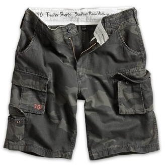 pantaloncini uomo SURPLUS - Trooper - Nero Camo, SURPLUS