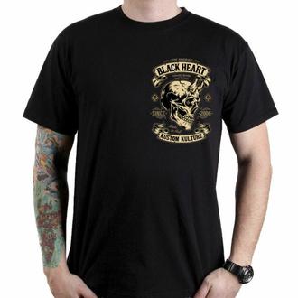 Maglietta da uomo BLACK HEART - DEVIL SKULL - NERO, BLACK HEART