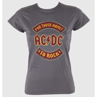 t-shirt metal donna AC-DC - About To Rock Banner - LIVE NATION, LIVE NATION, AC-DC