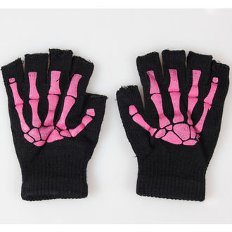 guanti senza dita POIZEN INDUSTRIES - BGS Gloves - Nero/Rosa