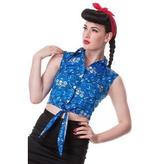 camicia (gilet) donna HELL BUNNY - Bandana - Blu, HELL BUNNY