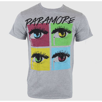 t-shirt metal uomo Paramore - Pop Tear Sports Grey - LIVE NATION, LIVE NATION, Paramore