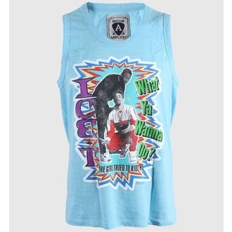 t-shirt uomo AMPLIFIED - Ice T Gun - Neon Blu, AMPLIFIED