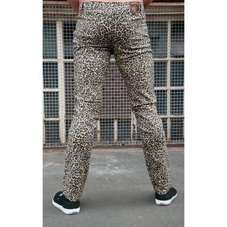 pantaloni uomo 3RDAND56th - Leopard Skinny Jeans - Natural Leone, 3RDAND56th