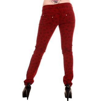 pantaloni donna 3RDAND56th - Swallow Skinny Jeans - Wine, 3RDAND56th