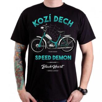 t-shirt street uomo - KOZÍ DECH - BLACK HEART, BLACK HEART