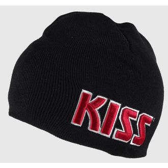 beanie Kiss - Red on White Logo - ROCK OFF, ROCK OFF, Kiss
