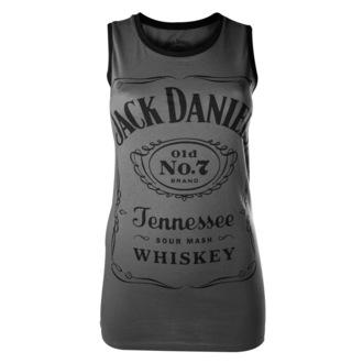 top donna Jack Daniels - Charcoal - Bioworld, JACK DANIELS