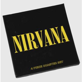 sottobicchieri Nirvana - set - ROCK OFF, ROCK OFF, Nirvana