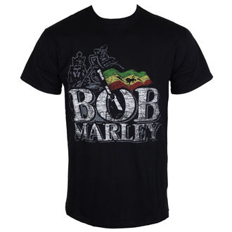 t-shirt metal uomo Bob Marley - Distressed Logo - ROCK OFF, ROCK OFF, Bob Marley