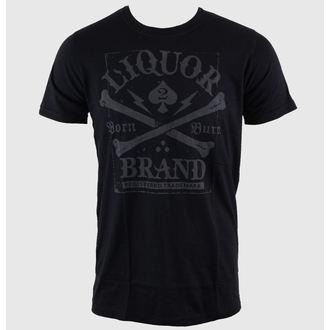 t-shirt hardcore uomo - Crossbones - LIQUOR BRAND, LIQUOR BRAND