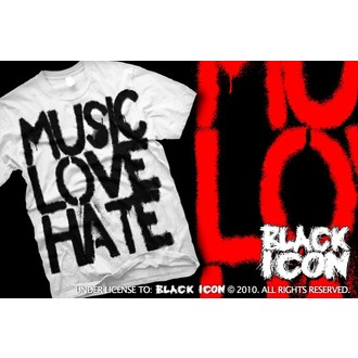 t-shirt hardcore uomo - Music, Love - BLACK ICON, BLACK ICON