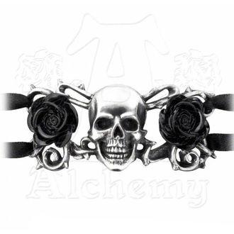 bracciale ALCHEMY GOTHIC - Skull & Briar Rose, ALCHEMY GOTHIC
