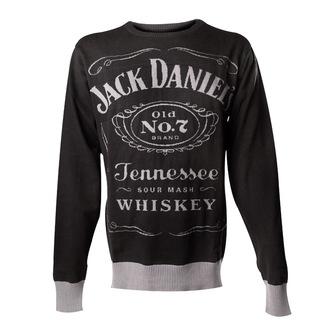 cardigan maschile Jack Daniels - A maglia Maglione - Nero, JACK DANIELS