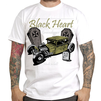 t-shirt street uomo - Gravedigger - BLACK HEART - Gravedigger, BLACK HEART