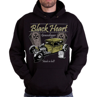 felpa con capuccio uomo - Gravedigger - BLACK HEART - Gravedigger