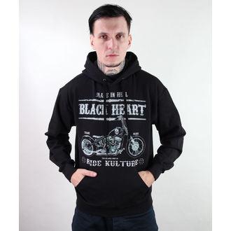 felpa con capuccio uomo - Motorcycle - BLACK HEART - Motorcycle, BLACK HEART