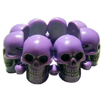 bracciale KREEPSVILLE SIX SIX SIX - Skull - Purple, KREEPSVILLE SIX SIX SIX