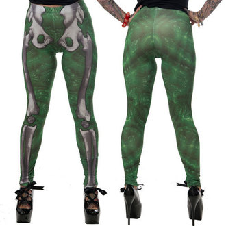 pantaloni donna (leggings) KREEPSVILLE SIX SIX SIX - Skele-Bone - Limo, KREEPSVILLE SIX SIX SIX