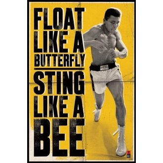 poster Muhammad Ali - Galleggiante Like Be Farfalla - PYRAMID POSTER, PYRAMID POSTERS