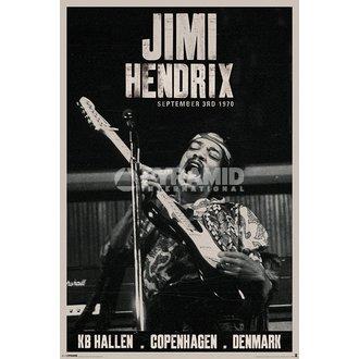 poster Jimi Hendrix - Copenaghen - PYRAMID POSTER, PYRAMID POSTERS, Jimi Hendrix
