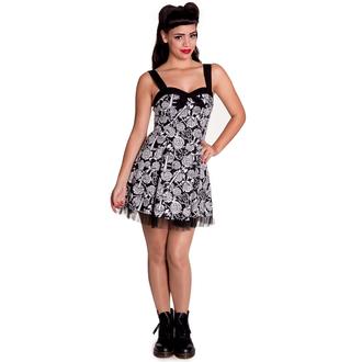vestito donna HELL BUNNY - Avalon Mini - Blk/Wht, HELL BUNNY
