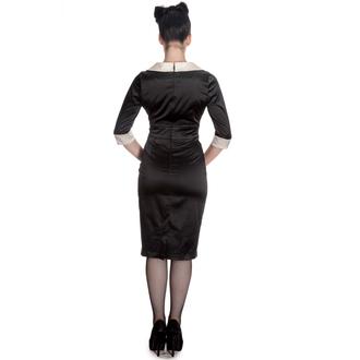 vestito donna HELL BUNNY - Moneypenny - Blk / Ivory, HELL BUNNY