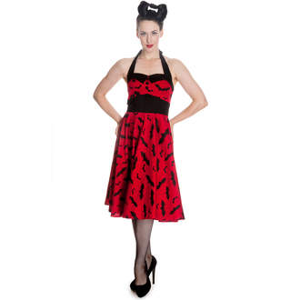 vestito donna HELL BUNNY - Bat 50´s - Red / Blk, HELL BUNNY