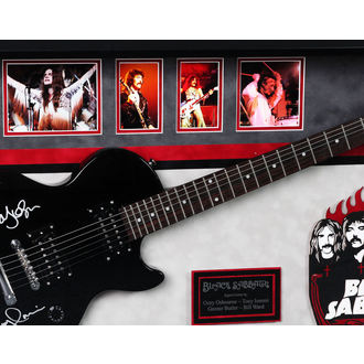 autografo chitarra BLACK SABBATH, ANTIQUITIES CALIFORNIA, Black Sabbath