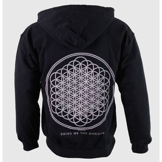 felpa con capuccio uomo Bring Me The Horizon - Flower Of Life Zip - ROCK OFF, ROCK OFF, Bring Me The Horizon
