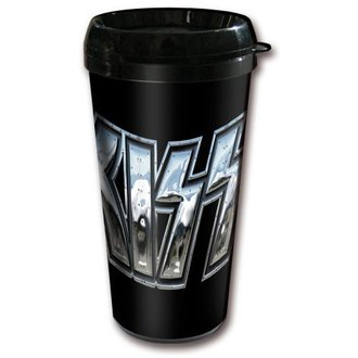 tazza termo KISS - Chrome Logo - ROCK OFF, ROCK OFF, Kiss
